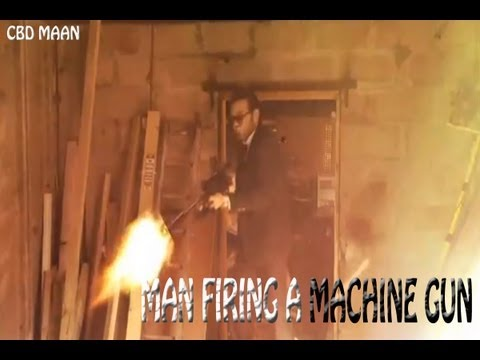 SUPPRESSED MACHINE GUN SHOOTING