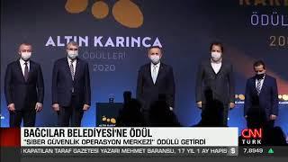 """BAĞCILAR BELEDİYESİ """"SİBER GÜVENLİK OPERASYON MERKEZİ"""" PROJESİNE ALTIN KARINCA ÖDÜLÜ"""