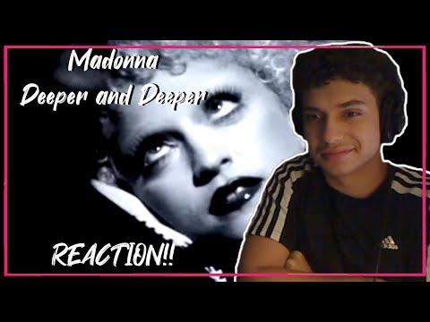 Madonna - Deeper And Deeper (Official Music Video) REACTION!!
