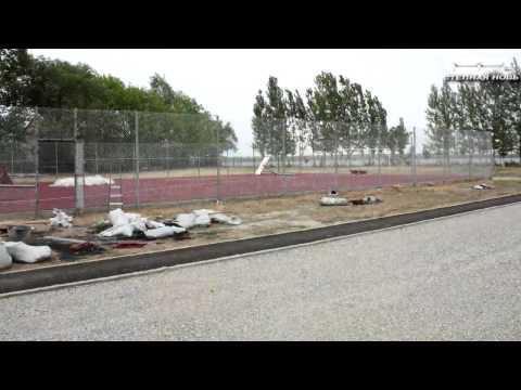 В Нариманове открыли две новые спортивные площадки