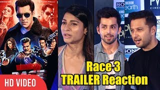 Video Celebrities Reaction On Race 3 Trailer   Salman Khan   Jacqueline Fernandez MP3, 3GP, MP4, WEBM, AVI, FLV Mei 2018