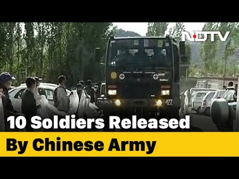 10 Soldiers Including 4 Officers Released By Chinese Army