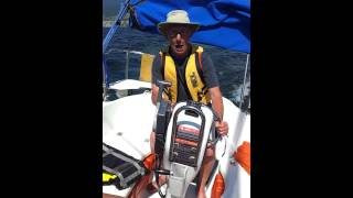 Sailing on Lake Okanagan near Penticton, BC