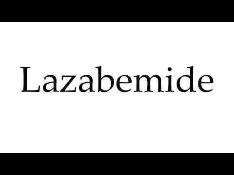 How to Pronounce Lazabemide