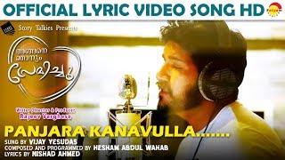 Video Panjara Kanavulla Lyric Video Song HD   Angane Njanum Premichu   Hesham Abdul Wahab   Vijay Yesudas MP3, 3GP, MP4, WEBM, AVI, FLV April 2018