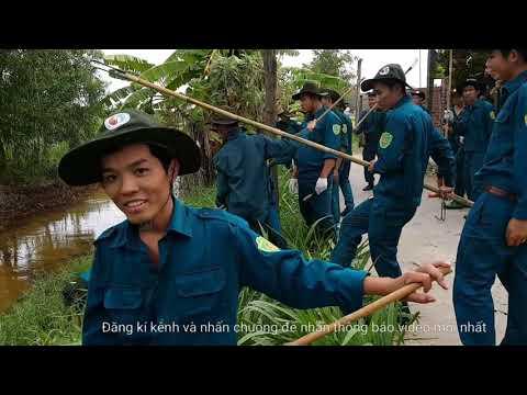Dân quân tự vệ huyện Tân Phú Đông giúp bà con khu vực Bà Lắm dọn cỏ ven kinh nước thông thoáng - Thời lượng: 14 phút.