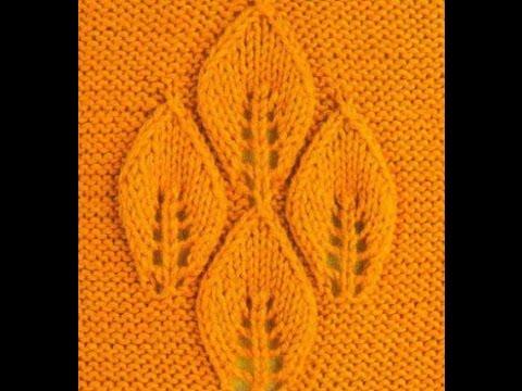 Вязание спицами для листиков
