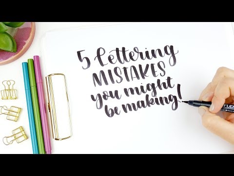 Beginner Brush Lettering  | 5 Handlettering Mistakes You Might Be Making | How to Hand Letter
