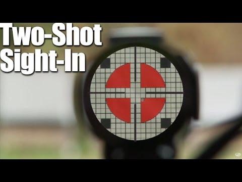 0 Как пристрелять оптический прицел за два выстрела