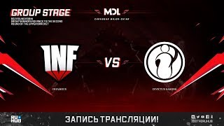 Infamous vs Invictus Gaming, MDL Changsha Major, game 2 [Mortalles]