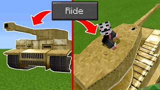 HOW to DRIVE a TANK on Minecraft Pocket Edition (Tank Addon)