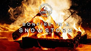 SNOW STORM FIREPLACE SOUNDS, WINTER STORM SOUND FOR SLEEPING, BLIZZARD SOUNDS FOR 8 HOURS OF SLEEP