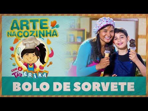 BOLO DE SORVETE | Arte na cozinha com a Tia Érika