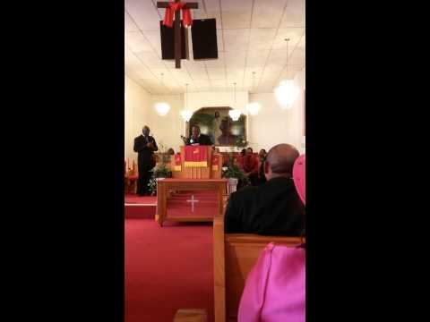 Pastor A.K. Parham at Salem M.B.C. Forrest city AR Men's Day