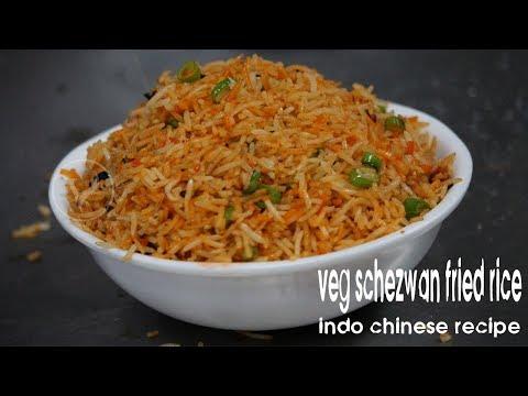 MUMBAI SPICY SCHEZWAN FRIED RICE | How to Make Easy Schezwan Veg Fried Rice | STREET FOOD INDIA