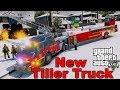 GTA 5 Firefighter Mod Brand New Tiller Ladder Firetruck Responding n Fighting Fires In Los Santos