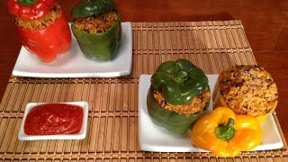 Stuffed Bell Pepper-How To Make Stuffed Bell Peppers-Asian Food Recipes