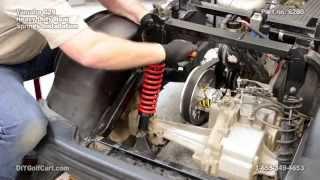 9. Yamaha G29 Drive Rear Heavy Duty Springs   How to Install on Golf Cart