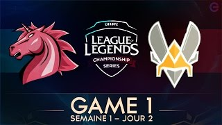 Unicorns Of Love VS Vitality GAME 1 - LCS EU 2017 - Week 1 - Day 2 full download video download mp3 download music download