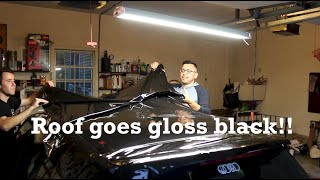Wrapping the Roof of my GTI Gloss Black! by Ignition Tube