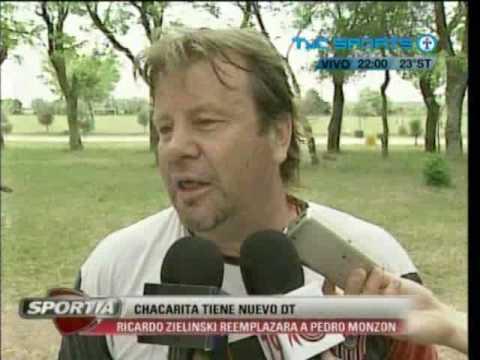 Zielinski como entrenador de Chacarita