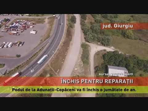 Podul de la Adunații-Copăceni, închis o jumătate de an