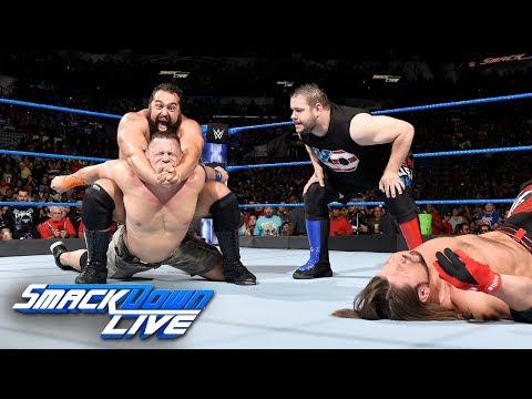 Rusev & Owens ruin Styles' U.S Champion Open Challenge against Cena: SmackDown LIVE, July 11, 2017