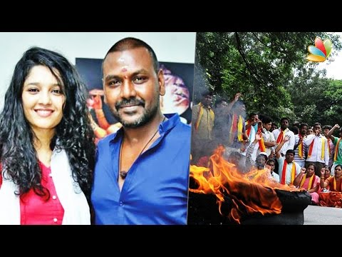 Raghava-Lawrence--Ritika-Singh-come-under-Kannada-extremists-attacks-Cauvery-Protest