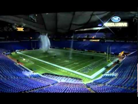 Fox Sports - Metrodome Roof Collapses - CRAZY FOOTAGE!!!