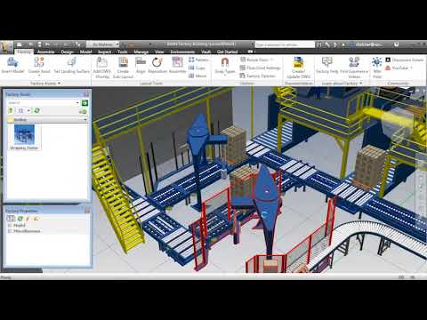 Design tools to create, publish, share, and manage 3D content for factory layouts. (video: 2:18 min.)