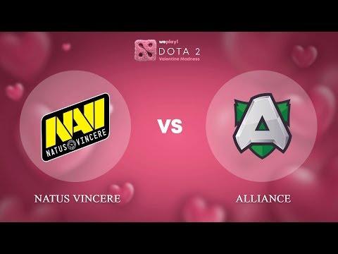 Natus Vincere vs Alliance - RU @Map1 | Dota 2 Valentine Madness | WePlay!