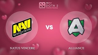 Natus Vincere vs Alliance - RU @Map1 | Dota 2 Valentine Madness | WePlay!