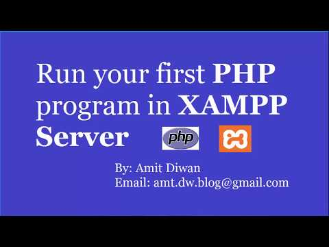 Video How to run first PHP program in XAMPP Server download in MP3, 3GP, MP4, WEBM, AVI, FLV January 2017