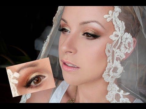 Mój makijaż Ślubny  Stare złoto i brąz - My Wedding Makeup Old Gold ft Dark Brown