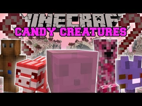 Minecraft: CANDY CREATURES MOD (A WORLD FILLED WITH CANDY MOBS, BOSSES, AND BLOCKS) Mod Showcase