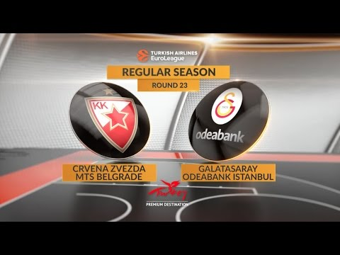 EuroLeague Highlights RS Round 23: Crvena Zvezda mts Belgrade 77-58 Galatasaray Odeabank Istanbul