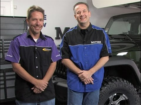 JK - Chris Duke from Motorz TV http://www.motorz.tv/ shows you how to install a 3 inch suspension lift kit on a 2010 Jeep JK and a 2 inch torsion bar lift kit on ...