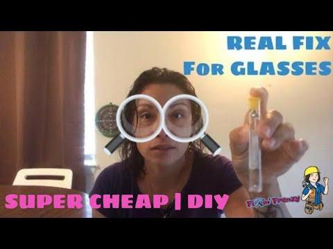 How to repair glasses with repair kit