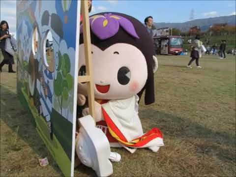 めい姫と顔出し看板 ゆるキャラグランプリin花園(東大阪)  …