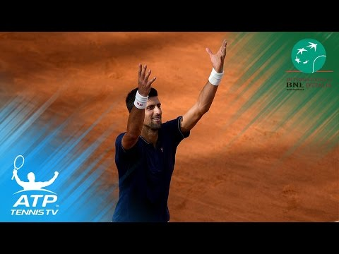 atp roma 2017: alexander zverev vs novak djokovic -  highlights