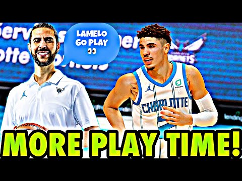 CHARLOTTE HORNETS HEAD COACH SAYS *LAMELO BALL* WILL GET MORE *MINUTES* IN 4TH QUARTER!