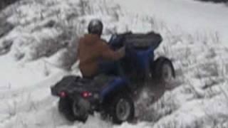 3. Polaris Sportsman 450 in snow