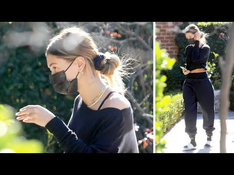 Hailey Baldwin Leaves Her Private Workout In Beverly Hills