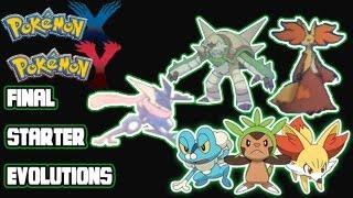 Pokemon X Y: Final Starter Evolutions Revealed!  Meet Chesnaught, Delphox, and Greninja!