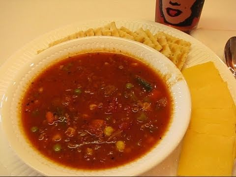 Betty's Spicy Vegetable Ground Beef Soup
