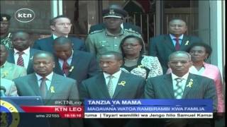 Peter Munya Awaongoza Magavana Wenzake Kumfariji Rais Mustaafu Mwai Kibaki