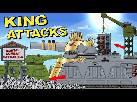 """""""King Dorian attacks the Soviet Monster"""" Cartoons about tanks"""