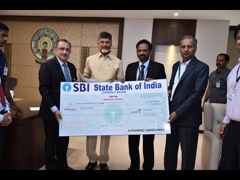 , SBI Donates 20 Lakh to AP CM Relief Fund