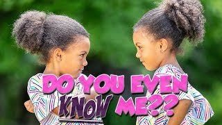 Video HOW WELL DO THE TWINS KNOW EACH OTHER? MP3, 3GP, MP4, WEBM, AVI, FLV Februari 2019