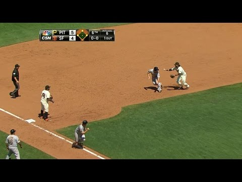 two - 7/30/14: Jean Machi issues a walk, but then catches Travis Snider too far off the bag before Pablo Sandoval nabs Gaby Sanchez in a rundown Check out http://m.mlb.com/video for our full archive...